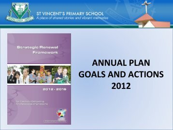 2012 Goals and Review - St Vincent's Primary School Clear Island ...