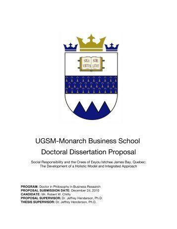Dissertation proposal meeting