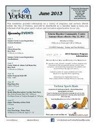 June 2013 - City of Yorkton