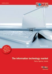 The information technology market - FOCUS MediaLine