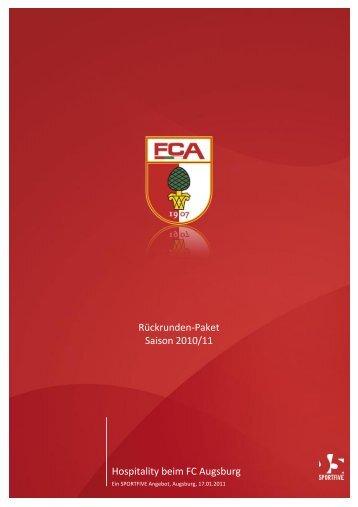 Hospitality beim FC Augsburg Rückrunden-Paket ... - B4B Schwaben