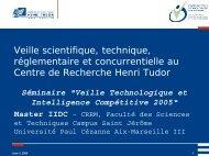 Le Centre de Veille Technologique et Normative - CRRM à