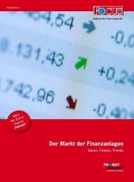 Der Markt der Finanzanlagen - FOCUS MediaLine