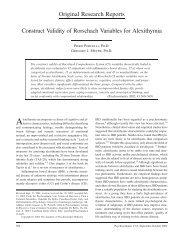 Original Research Reports Construct Validity of ... - Psychology