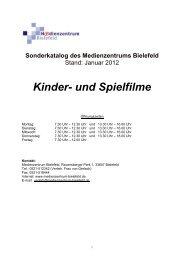 Kinder- und Spielfilme - Medienzentrum Bielefeld