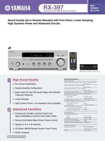 Yamaha RX-397 - Sound Group Holdings