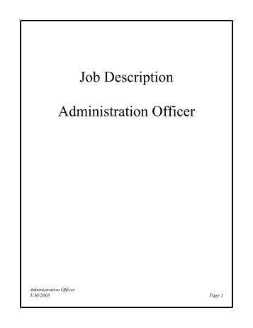Job description for sales support administrator venue - Job description for administrative officer ...