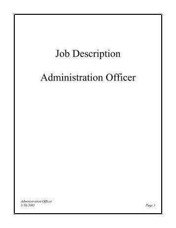 Job description sr contracts administrator lauren - Job description for administrative officer ...