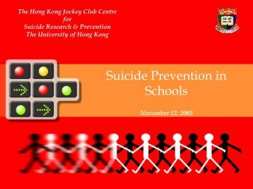 Suicide Prevention in Schools - Centre for Suicide Research and ...
