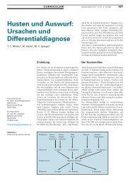 Husten und Auswurf: $$ Ursachen und Differentialdiagnose - Swiss ...