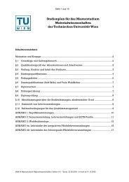 Studienplan Materialwissenschaften - Technische Universität Wien