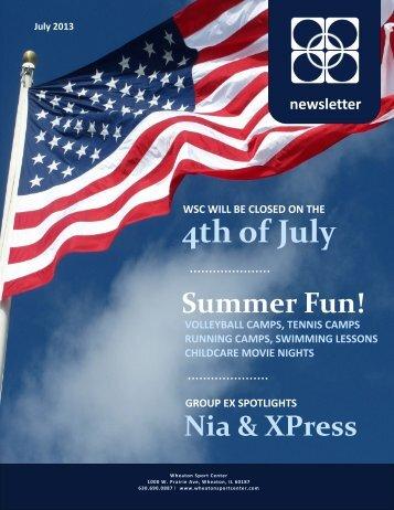 July 2013 Newsletter - Wheaton Sport Center