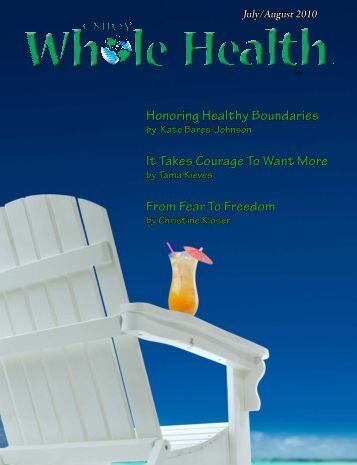 July/August 2010 - Enjoy Whole Health