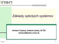 Základy optických systémov - Norbert Tarjányi