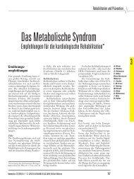 Das Metabolische Syndrom - Deutsche Gesellschaft für Prävention ...