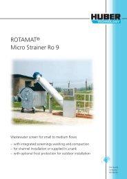 ROTAMAT® Micro Strainer Ro 9 - brochure english