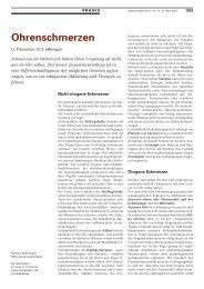 Ohrenschmerzen - Swiss Medical Forum