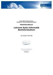Modulhandbuch Bachelor Lehramt Informatik GyGe 2011