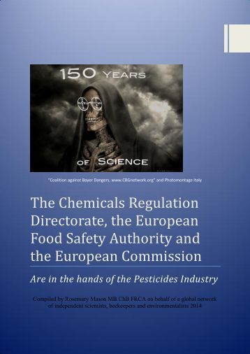 CRD, EFSA and EC are in the hands of the pesticides industry