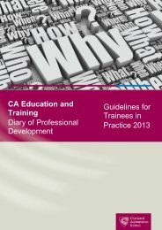 CA Professional Development Experience: Guidelines for ... - Student