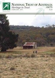 Heritage in Trust - February 2011 - National Trust of Australia
