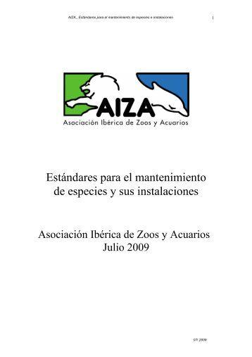 Estándares para el mantenimiento de especies y sus ... - AIZA