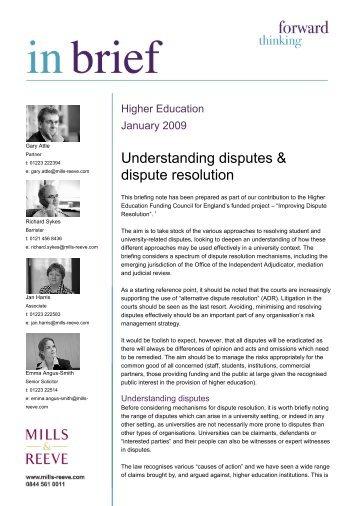 Understanding disputes & dispute resolution - Office of the ...