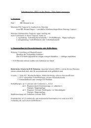 Schrittmacher- EKG in der Praxis - Vereinigung Zuercher Internisten