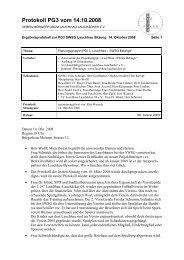 Protokoll PG3 vom 14.10.2008 - Home @ BÜRGERFORUM LAUCHHAU-LAUCHÄCKER