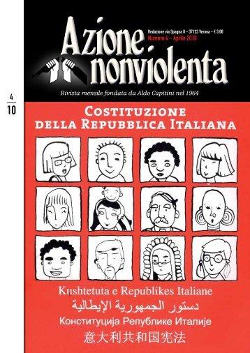 Numero 4 - Aprile 2010 - Movimento Nonviolento