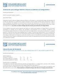 Informe para Colegios en general para aplicación ... - Colegio Bolivar