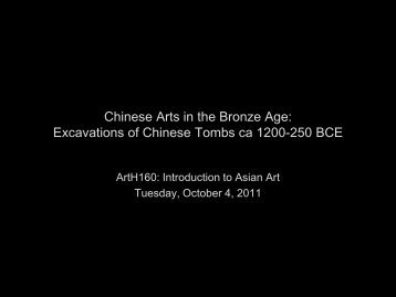 Early Chinese Art: Tombs of the Shang Dynasty