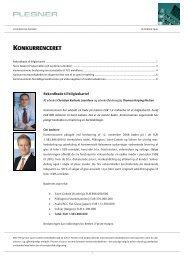 KONKURRENCERET - Plesner
