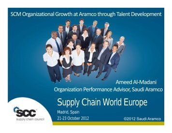 aramco supply chain management Doing business with saudi aramco aug2016 uploaded supplier performance because supply chain management is a key success factor.