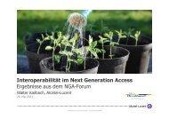 Ergebnisse aus dem NGA-Forum, Workshop 1 - Breitband in Hessen