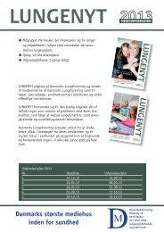 Danmarks Lungeforenings medieinfo 2013