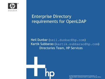 Enterprise Directory requirements for OpenLDAP