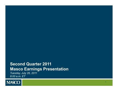 View Presentation (PDF 729 KB) - Masco Corporation