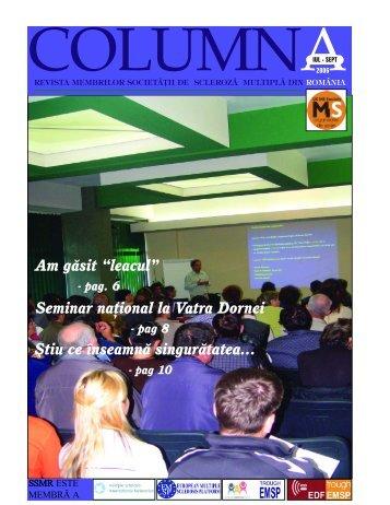 columna sept.qxd - Societatea de Scleroza Multipla din Romania