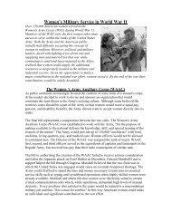 Women's Military Service in World War II - Spokane Public Schools