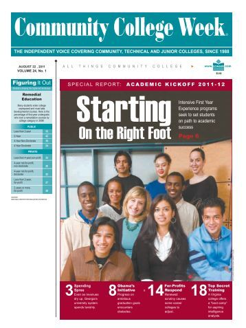On the Right Foot - Community College Week