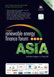 Asia's Premier Event for Renewable Energy and Carbon Finance SAVE ...