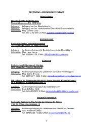 Liste der zertifizierten Träger - Elternbildung