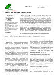 Diabetes and Medicinal plants – A review - PharmaInterScience