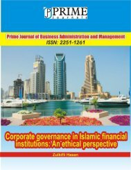 corporate governance in islamic financial institutions - Prime Journals