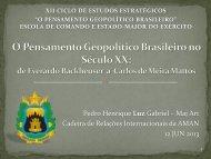 O pensamento geopolítico no Brasil - Escola de Comando e Estado ...