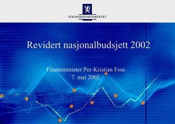 Revidert nasjonalbudsjett 2002 - Statsbudsjettet
