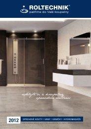 2012 Sprchové kouty | vany | vaničky | hydromaSáže - Roltechnik as