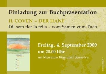 Einladung zur Buchpräsentation - Museum Regiunal Surselva