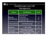 Empfehlungen zum ICB- Management